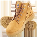 STEEL BLUE PARKES ZIP SIDE LACE UP STEEL CAP TPU SOLE BOOTS (NON SCUFF) WHEAT